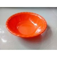 "Mangkok Ulir Sayur 9"" Orange Melamine - Golden Dragon W0909"