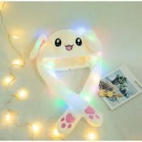 Topi tiktok LED bunny stitch / tiktok baby dancing