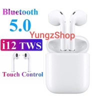 Headset Bluetooth Airpod TWS i12 Bluetooth 5.0 Earphone Wireless