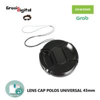 Lens Cap Polos Universal 43mm