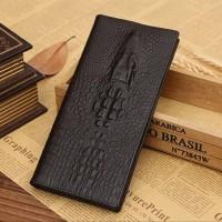 Dompet lipat panjang pria dari bahan kulit model cetakan 3D buaya