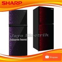 Kulkas 2 Pintu Sharp 236 MG Glossy Door Shine Series No Frost Low Watt