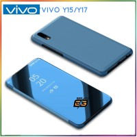 Case Flip Cover Vivo Y15.Y17 Flip Case Miror Cover stand Vivo Y15.Y17