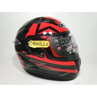 HELM KYT FALCON 2 FASTER RED FLUO DOUBLE VISOR FULL FACE