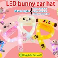 Bunny Hat Topi Kelinci Nyala