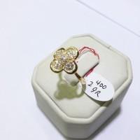 UNIK Cincin emas kuning kadar 700 berat 2.4 gram size 1