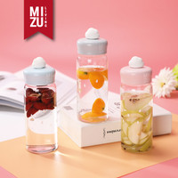 RAINY SEASON Glass Tumbler Botol Air Minum Kaca BPA-Free 420ml - PINK Drizzle