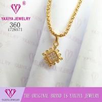Liontin Permata perhiasan imitasi lapis emas Yaxiya Jewelry 360