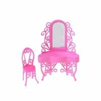 Mainan Meja Rias Set Barbie Pink Cute