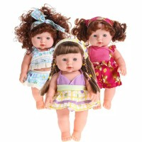 Mainan Boneka Bayi Anak Perempuan Lucu Bahan Karet Vinyl Lembut Bunyi