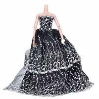 Baju Barbie Weding Princess Black Elegant