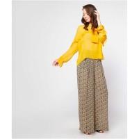 Elthia Chole Casual Long Sleeve Yellow Blouse / Size Medium