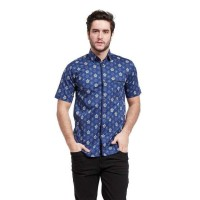 Caden Shirt Casual Santai Biru / Fashion Pria Kemeja /Size Medium