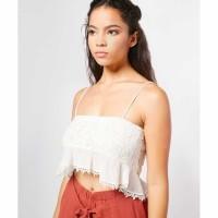 Yocelyn Calesthane Casual White Top Putih / Fashion Wanita Size Medium