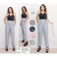 Harga celana bahan olla pants real pic pakaian wanita kantor casua | antitipu.com