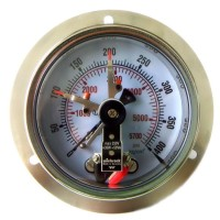 Pressure Gauge With Electric Contact Switch Atau Pressure Gauge