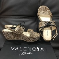NEW VALENCIA Limite x Zaskia Sungkar Chocolate Constance Tweed Wedges