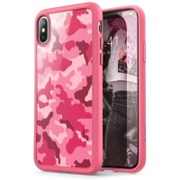 Case iPhone X/XS i-BLASON Halo Hybrid Series Original - Camo Pink