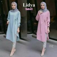 Pakaian Atasan Wanita Tunik Lidya Baju Blouse Muslimah