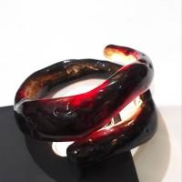 gelang Bahar merah Akar laut cristal hk 050