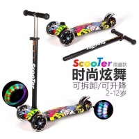 Jual Kickboard Scooter Anak MOTIF - Skuter Anak / Otoped Anak Roda 3