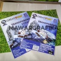 Stiker Transparan Inkjet bisa diprint dengan tinta biasa / ORI