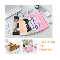 PF15 MAP Hand Up Cat A4 Stationery File Folder