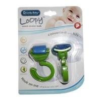 Lucky Baby Loopy Swivel Stroller Hook / Purple / Orange / Green