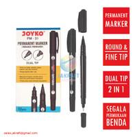 Spidol Permanen Hitam JOYKO 2 in 1 Black Permanent Marker PM-31