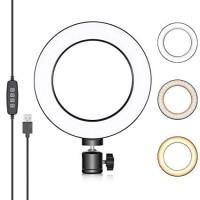 """Ring Light LED 3 Colors size 6"""" / 16cm Studio Ringlight 3 Warna Best"""