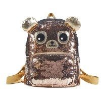 BACKPACK SEQUIN BEAR BROWN