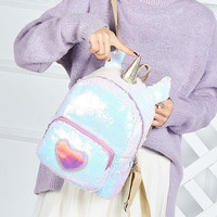 TAS SEQUIN UNICORN ANAK / BACKPACK SEQUIN LOVE WHITE