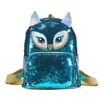 BACKPACK SEQUIN OWL BLUE