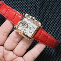 Jam Tangan Wanita Expedition E6757B Red Leather Original