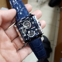 Jam Tangan Wanita Expedition E6757B Blue Leather Original