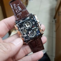 Jam Tangan Wanita Expedition E6757B Brown Leather Original