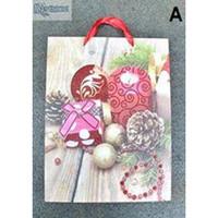 PAPER BAG CHRISTMAS WOOD SPARKLE | (3 PIECES) | 26 X 10 X 32 CM