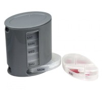 PILL PRO Organizer - 7-Day Pill Organiser with Portable Trays W3898