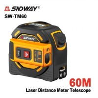 SNDWAY SW-TM60 - Multi Measuring Tape 5M and Laser Distance Meter 60M