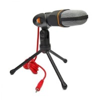 SF-666 Wired Stereo Desktop Microphone with Stand Microphone Holder
