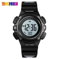 SKMEI Jam Tangan Sporty Anak Waterproof LED Digital - 1485 Hitam