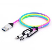 Cyliliya Kabel Charger USB Lightning Type C 1M 2.1A CY01 Multi Warna