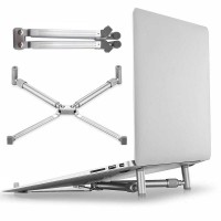 X Stand Universal Folding Cooling Pad Laptop 17 Inch - F2056 Silver