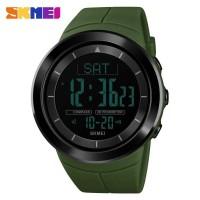 SKMEI Jam Tangan Digital Pria Pedometer Compass - 1403 Hijau Army