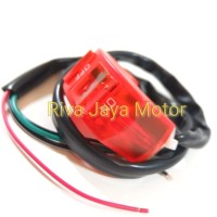 Saklar On Off Merah Nyala Lampu Led Universal