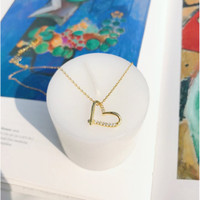 DearMe - LOVE Necklace (925 Sterling Silver with 14k Gold Plating)