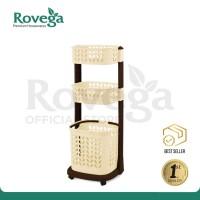 Rovega Keranjang Pakaian Premium Laundry Basket 3 Level RLB-300 COKLAT