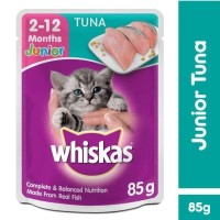 [Buy 2 Get 1] Whiskas Pouch Junior 85gr Makanan Kucing rasa Tuna
