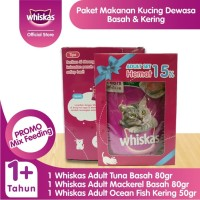1 Whiskas Adult MF Pack + Free 2 Sheba Melty