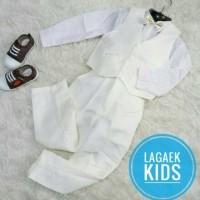 vest anak standar Broken white dasi emas usia 5-6-7 tahun / rompi anak